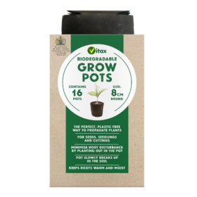 vitax grow pots round 8cm