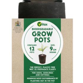 vitax grow pots round 9cm